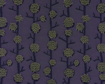 ARC COM Blossom Eggplant Upholstery Fabric - By The Yard