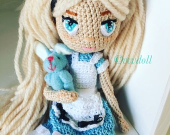 Crochet doll Alice in Wonderland
