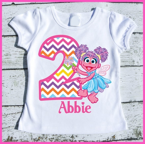 Custom Personalized Super Cute Abby Cadabby Birthday tee shirt