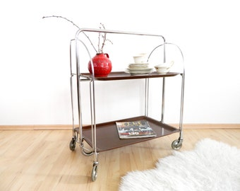 GERLINOL tray trolley roller table Dinett 60s, tray