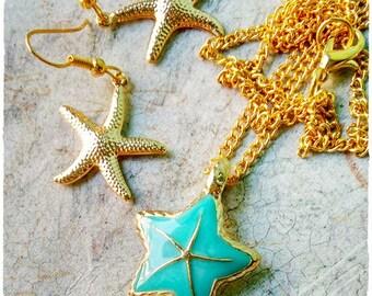 Starfish Jewelry Set