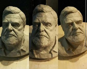 John Goodman Clay Sculpture