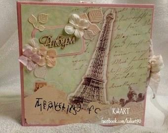 Travel Photo Album, Travel Scrapbook Album, Travel Album, Traveling of Memories, Anniversary Photo Album, Wedding Present, Gift For Her
