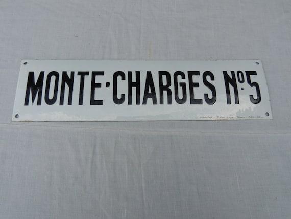 Enamelled plate French enamel monte charges Vintage deco workshops industrial loft