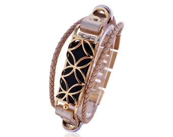 Wrist Fusion 2 - fit bit Flex - Stainless Steel and 18 K gold plated