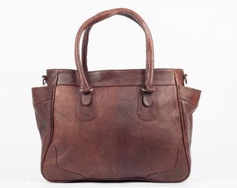 Leather Lady bag handbag leather bag vintage LAN bag