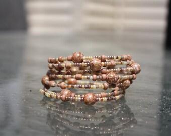 Cinnamon Wrap Bracelet