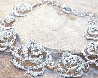Rose Diamante Bracelet