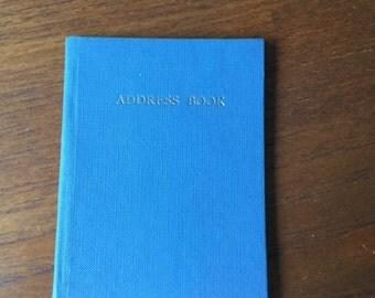 Vintage address book in forget-me-not blue