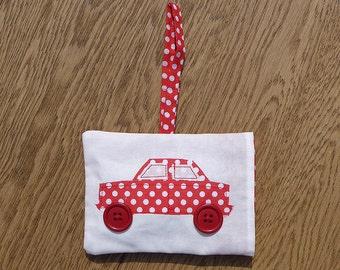 Red and White Polka Dot Lavender Bag Car Air Freshener