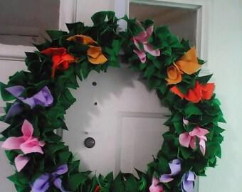 "14"" Spring Flowers Wreath"
