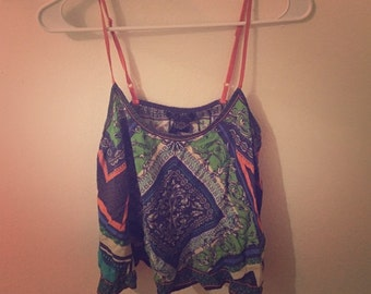 Forever 21 Paisley cropped top