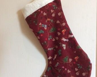 Luxurious Handmade Christmas Stocking