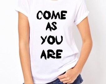 Nirvana shirt come as you are shirt band shirt 90s shirt kurt cobain shirt
