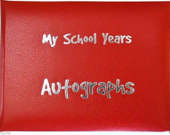 School Autograph Book - Red