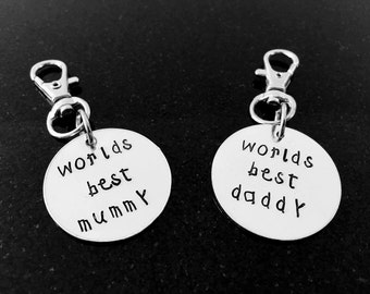 Worlds best daddy, worlds best mummy, Fathers Day Gift, Gift for him, keyring, gift for her, personalised gift, Mothers Day Gift, Daddy Gift