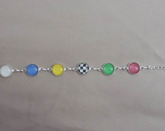 Racing Flags Charm Bracelet (12mm)