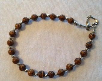 Hand Made Chrysanthemum Stone Bracelet