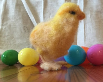 Little Needle Felted Chick