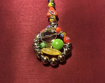 Colorful Whimsical Necklace