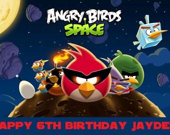 Angry Birds Edible Image Custom Cake Topper Icing Sheet
