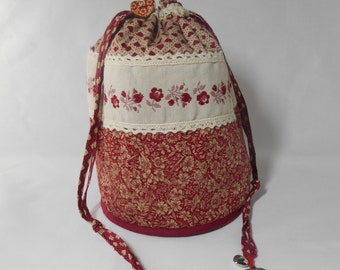 Backpack vintage, empty pocket, catch all, organizer toilet bag for treasures,