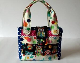 Kindergarten children bag OWL handbag