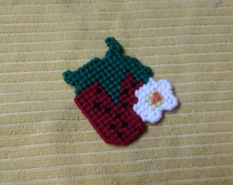 Strawberry with flower magnet