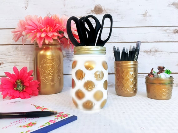 Gold Desk Accessories Gold Mason Jars Gold By