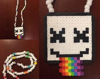 Marshmello Kandi Rainbow Necklace