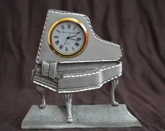 Spoontiques Pewter Grand Piano Clock