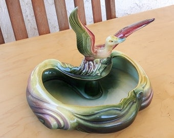 Vintage Hull Pottery #104 Duck on Pond Planter / Vintage Céramique Hull 104