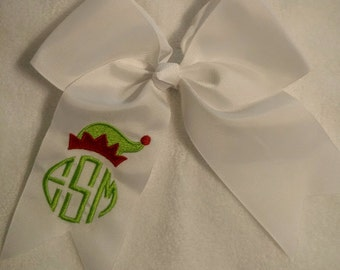 Monogram Elf Hair Bow