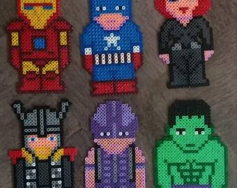 Hama beads Avengers Characters