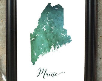 Maine Art Wall Rustic Decor Unique Living Room Gift