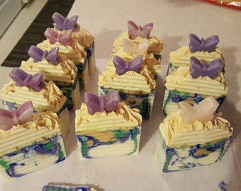 Butterfly soap, Wings of Glitter, Homemade Soap, Artisan Soap, Cold Process Soap