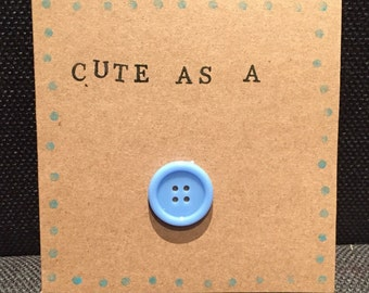 New Baby Boy Handmade card