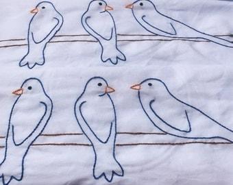 Blue bird pillow cases