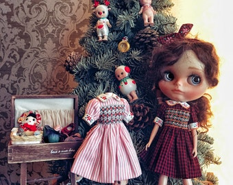 Blythe outfit,Handmade,vintage style,also for kiki