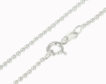 Sterling Silver s925 Small Ball Chain