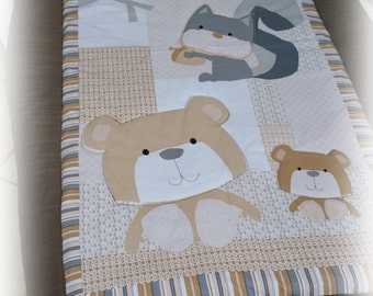 Patchwork quilt blankie baby blanket Playmat