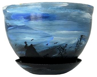 Original Hand Painted 6' Flower Pot