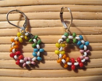Floral Rainbow Earrings