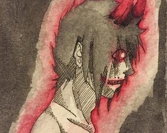 Danny - Red 2x3 Print