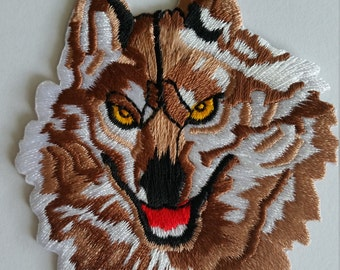 Wolf 8x7cm Iron on patch Embroidered Sew Iron On Patch