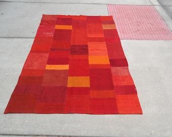 Kilim patchwork rug , Turkish rug