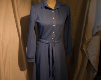 Blue Medium 1970s vintage dress
