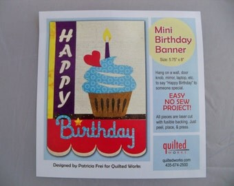 No Sew Birthday Banner Laser Cut Kit
