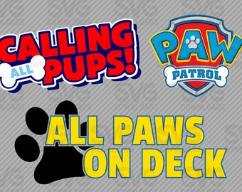 Paw Patrol SVG Graphics 3 Pack