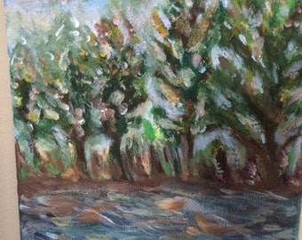 A Day in the Forest  - original painting